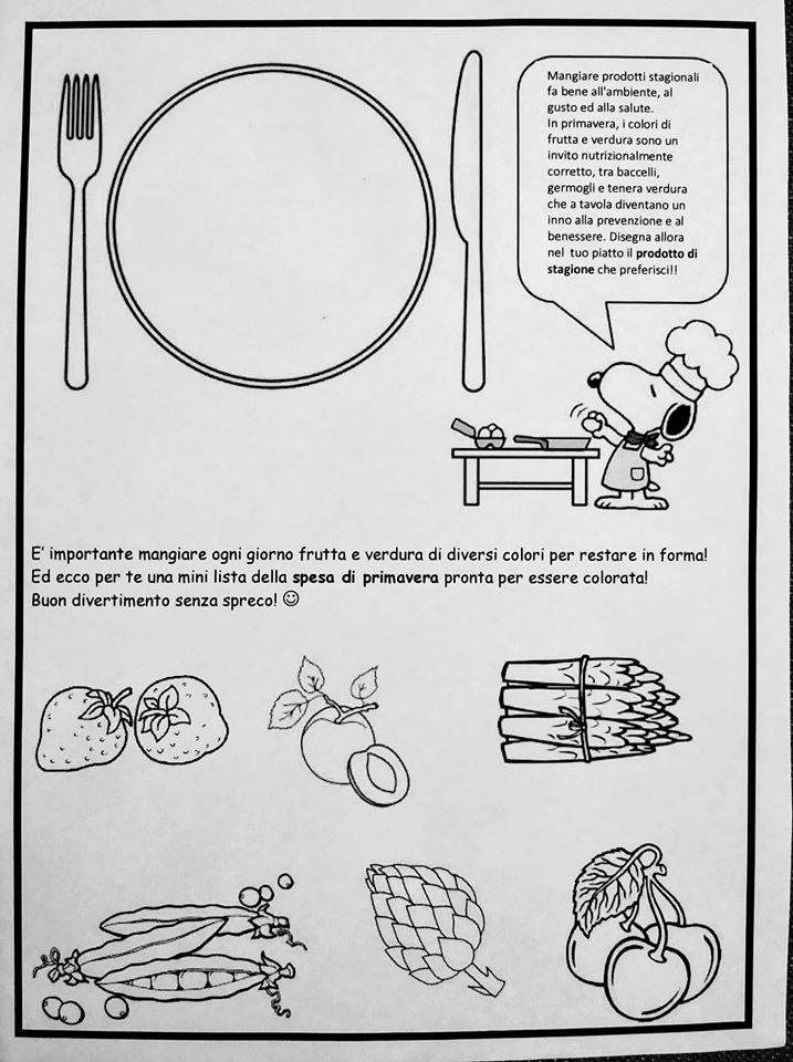 Un piccolo esercizio dedicato all'alimentazione per i più piccoli a cura della Dott.ssa Scruci